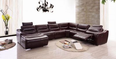 Living Room Furniture Sectionals 2144 Sectional  w/Recliner